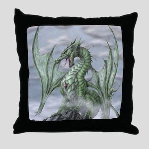 Misty allover Throw Pillow