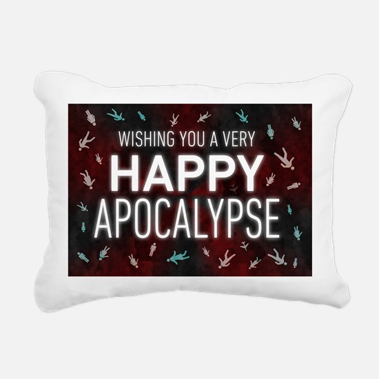 Happy Apocalypse Rectangular Canvas Pillow
