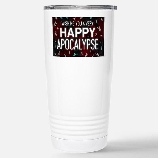 Happy Apocalypse Stainless Steel Travel Mug