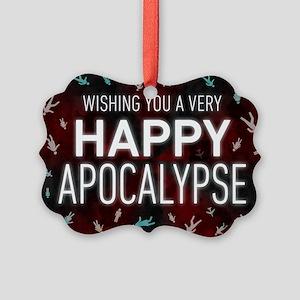 Happy Apocalypse Picture Ornament