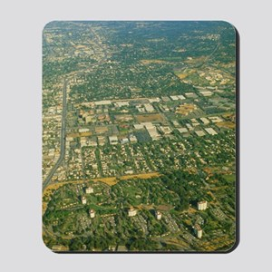 Aerial view of Silicon valley Mousepad