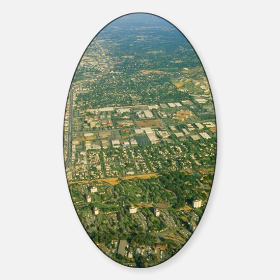Aerial view of Silicon valley Sticker (Oval)