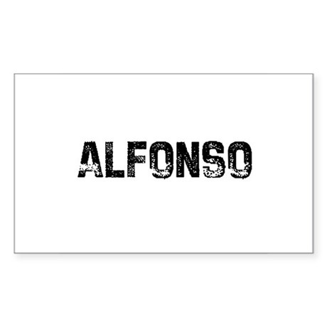 Alfonso Rectangle Sticker