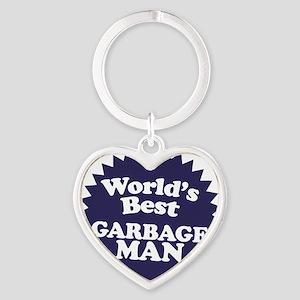 Worlds best Garbage Man Heart Keychain