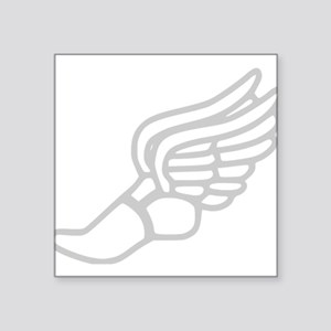 Grey Running Shoe With Wings Sticker