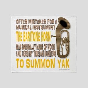 Summon Yak Throw Blanket
