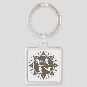 Adventure Compass Square Keychain