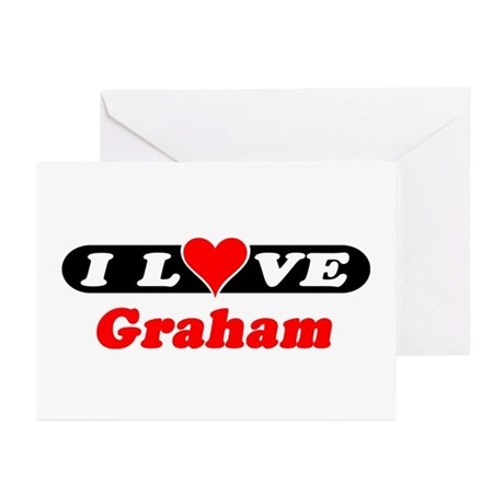 I Love Graham Greeting Cards (Pk of 10)