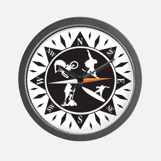 Adventure Compass Wall Clock