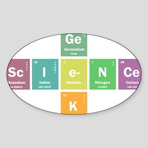 Geek science Sticker (Oval)