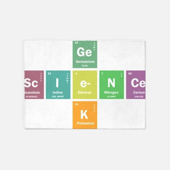 Geek science 5'x7'Area Rug