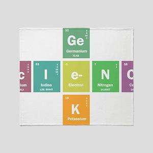 Geek science Throw Blanket