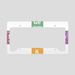 Geek science License Plate Holder