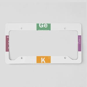 Geek science License Plate Holder