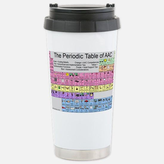The Periodic Table of A Stainless Steel Travel Mug