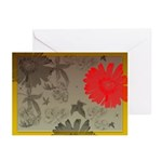 Red Daisy Greeting Cards (Pk of 10)