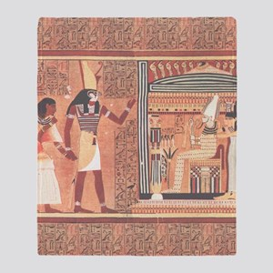 Ani Papyrus Egyptian Throw Blanket