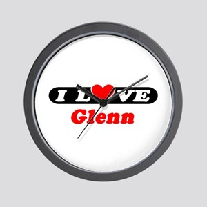 I Love Glenn Wall Clock