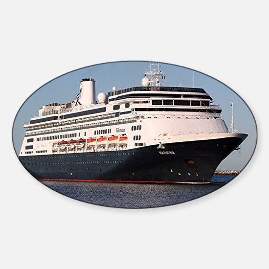 Cruise ship 7 Sticker (Oval)