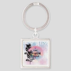 Breaking Dawn Rainbow Light Square Keychain