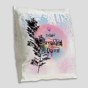 Breaking Dawn Rainbow Light Burlap Throw Pillow