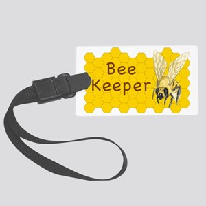 Bee Keeper Sticker Large Luggage Tag