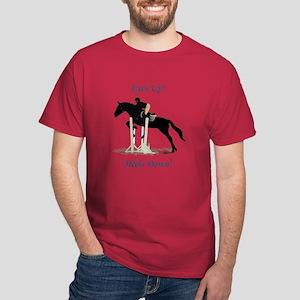 Eyes Up! Heels Down! Horse Dark T-Shirt