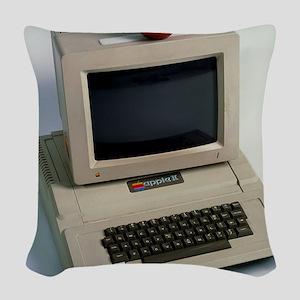 Apple II computer Woven Throw Pillow