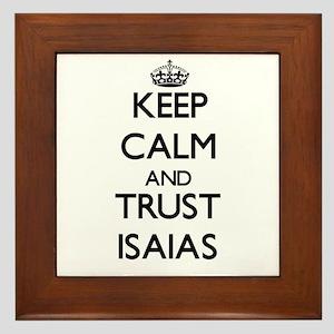 Keep Calm and TRUST Isaias Framed Tile