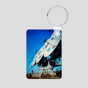Array of radio receiving d Aluminum Photo Keychain