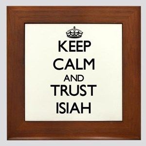 Keep Calm and TRUST Isiah Framed Tile