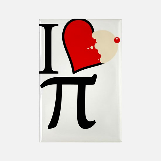 Nerdy Pie Luv Rectangle Magnet