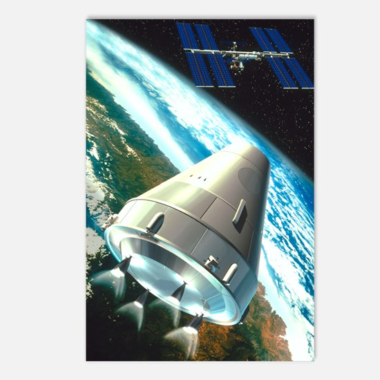 Artwork of a CTV craft su Postcards (Package of 8)