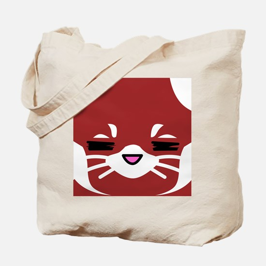 Red Panda sleepy face Tote Bag