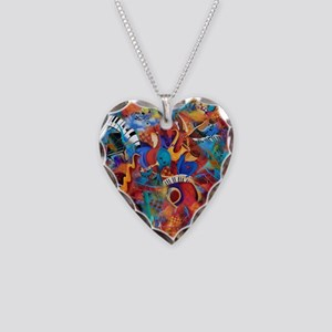 Jazz Musicians Blues Band Necklace Heart Charm