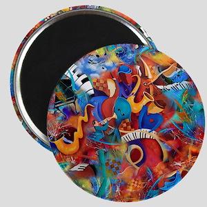 Jazz Musicians Blues Band Magnet