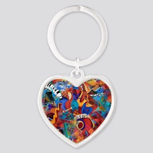 Jazz Musicians Blues Band Heart Keychain