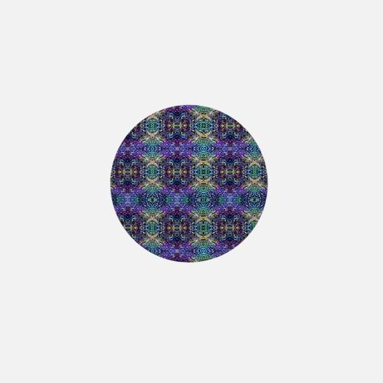 Luggage Handle Wrap - Cool Rainbow Gla Mini Button