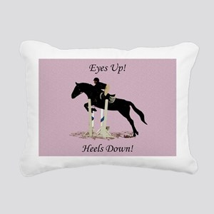 Eyes Up! Heels Down! Hor Rectangular Canvas Pillow
