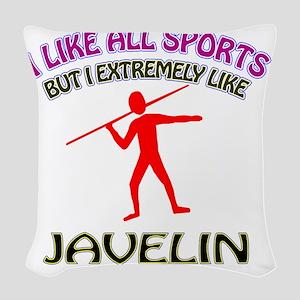 Javelin designs Woven Throw Pillow