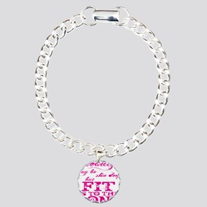 Beauty - Pink2 Charm Bracelet, One Charm