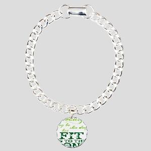 Beauty - Green Charm Bracelet, One Charm