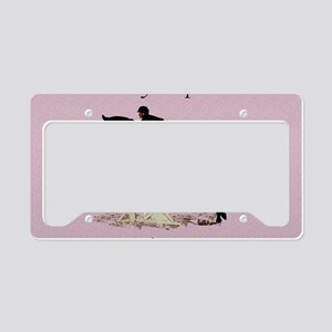 Eyes Up! Heels Down! Horse License Plate Holder