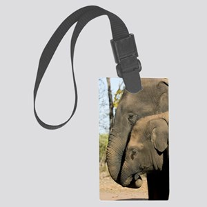 Asian elephants Large Luggage Tag