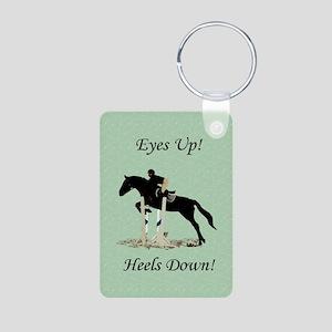 Eyes Up! Heels Down! Horse Aluminum Photo Keychain