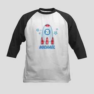 Personalized 2nd Birthday Rocket Kids Baseball Jer