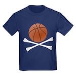 Basketball and Crossbones Kids Dark T-Shirt