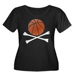 Basketball and Crossbones Plus Size Scoop Neck