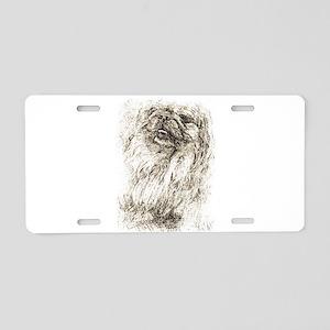 Pekingese Portrait Aluminum License Plate