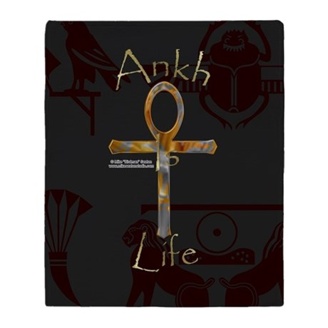 Ankh is Life Throw Blanket